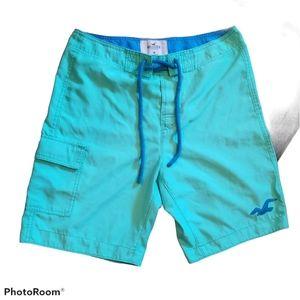 HOLLISTER Teal Board Shorts (Size Medium)